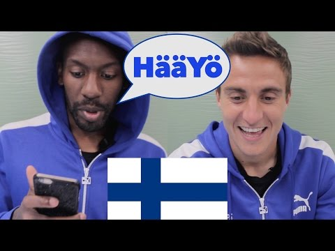FOREIGNERS TRYING TO SPEAK FINNISH | Learn Finnish with footballers