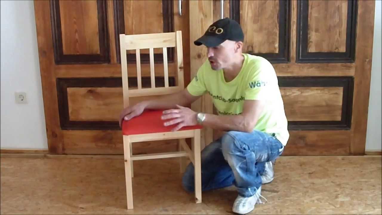 Stühle mit Leder beziehen - YouTube