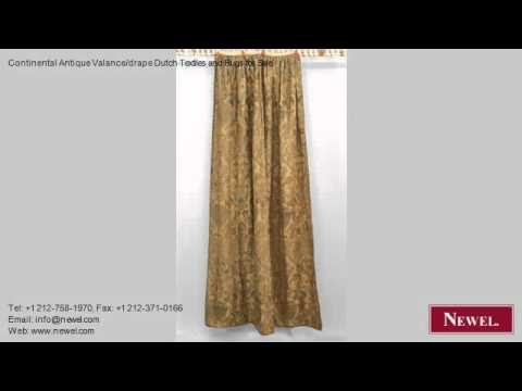 Continental Antique Valance/drape Dutch Textiles and Rugs