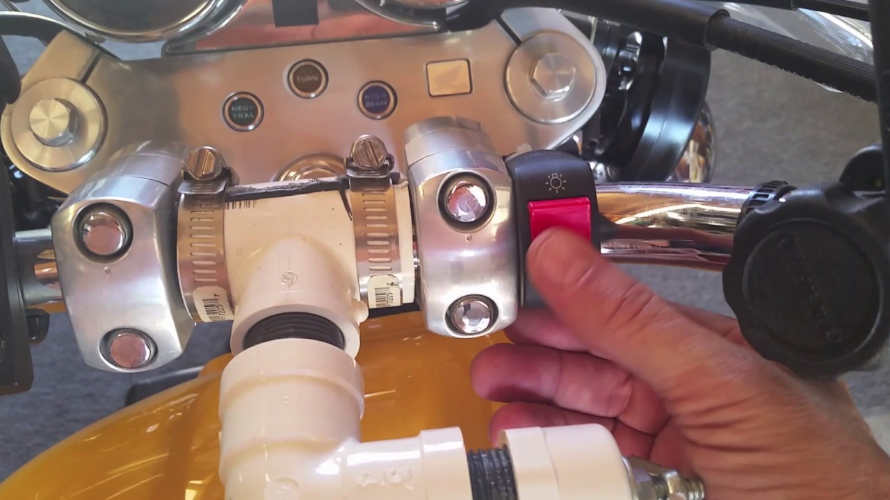 Honda Magna Led Driving Lights Install And Horn Upgrade 2017 Youtube Diagram Of Motorcycle Parts 2001 Vf750c A Alternator