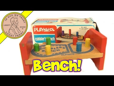 Playskool Vintage Wooden Cobbler&#39;s Bench Shoe Toy - Cobbler, Cobbler, Mend My Shoe!<a href='/yt-w/ua-dRjMrviI/playskool-vintage-wooden-cobbler39s-bench-shoe-toy-cobbler-cobbler-mend-my-shoe.html' target='_blank' title='Play' onclick='reloadPage();'>   <span class='button' style='color: #fff'> Watch Video</a></span>