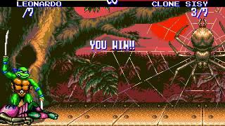 Скачать Teenage Mutant Ninja Turtles Tournament Fighters SEGA SMD 8 Difficulty Real Time Playthrough
