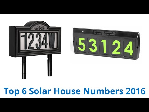 6 Best Solar House Numbers 2016