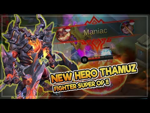 New Hero Thamuz [Lord Lava] New Hero OP | New God Fighter Mobile Legends