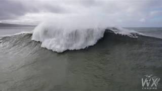 Pedro Scooby Nazare huge wave wipeout 4 wave hold and rescue drone 4k