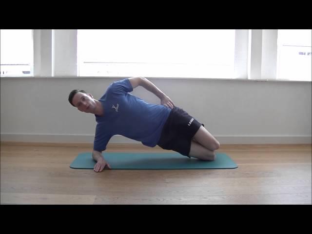 BilspierOefeningen; Zijwaartse Plank Beginner