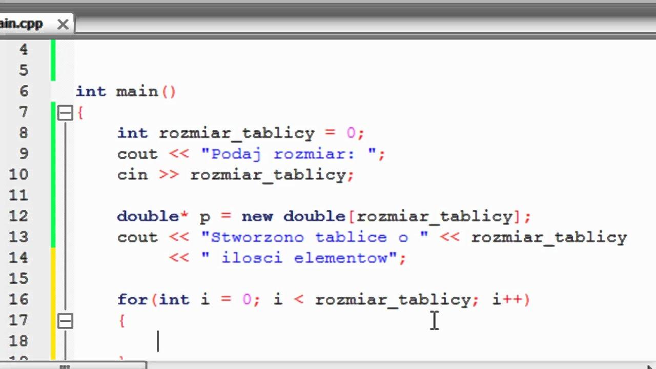 Kurs C++ 28: Dynamiczna Alokacja Pamięci