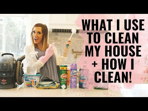 How I Clean My House + What I Use! | Cleaning hacks!