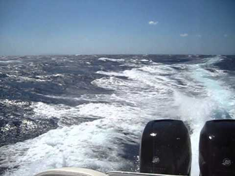 Revenger 32 RIB in big waves, Greece