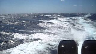 Revenger 32 RIB in big waves, Greece