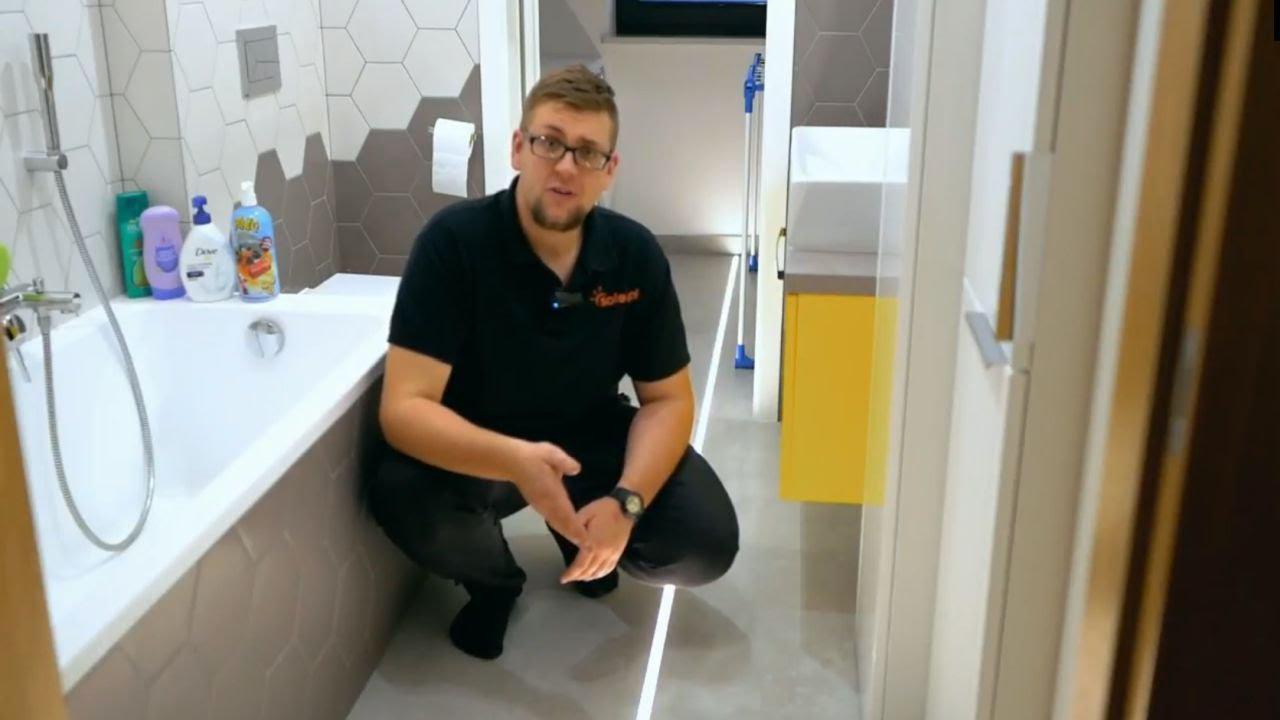 Delikatne Oświetlenie Led W Podłodze łazienki Inspiracja Led Profil Hr Alu