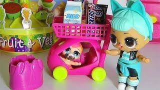 Купи шоколадку. ЛОЛ и ЛИЛ в супермаркете. Куклы ЛОЛ мультики смешные видео