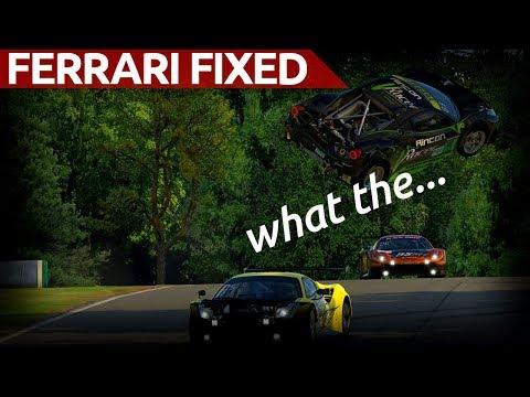 Flying Car...Ferrari Fixed At Road Atlanta