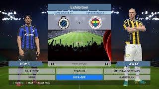 Club Brugge KV vs Fenerbahce SK, Jan Breydel Stadion, PES 2016, PRO EVOLUTION SOCCER 2016