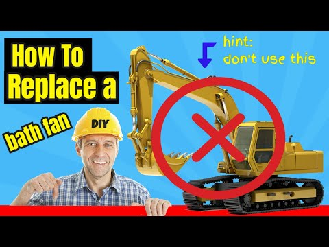 replace a bath fan broan fan youtube