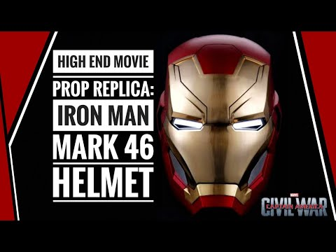 $200 High End Movie Prop Replica: Iron Man Mark 46 1/1 Scale Helmet -unboxing | review