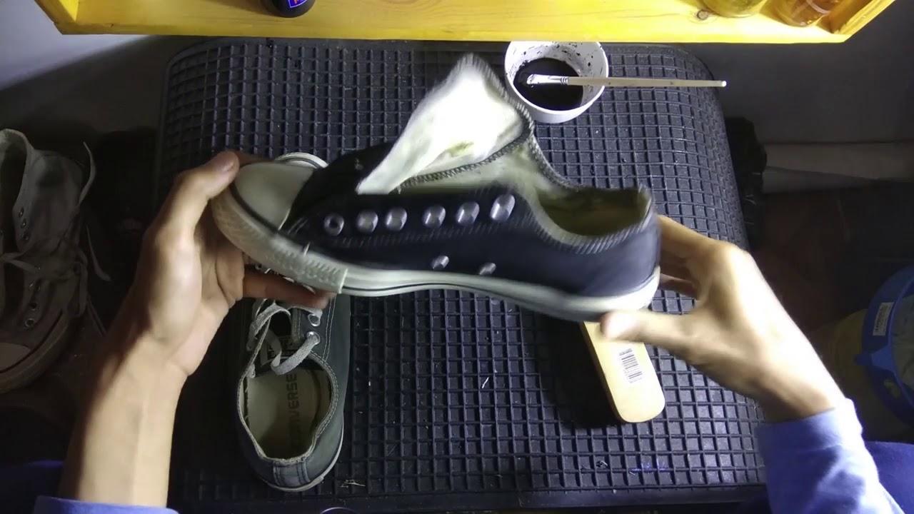 Cat Ulang Sepatu Repaint Converse Yang Sudah Pudar Youtube