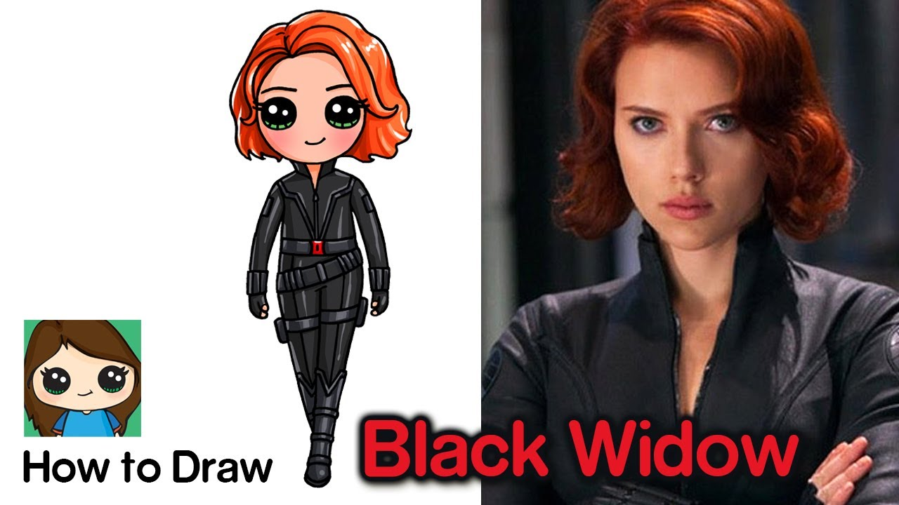 How To Draw Black Widow The Avengers Youtube