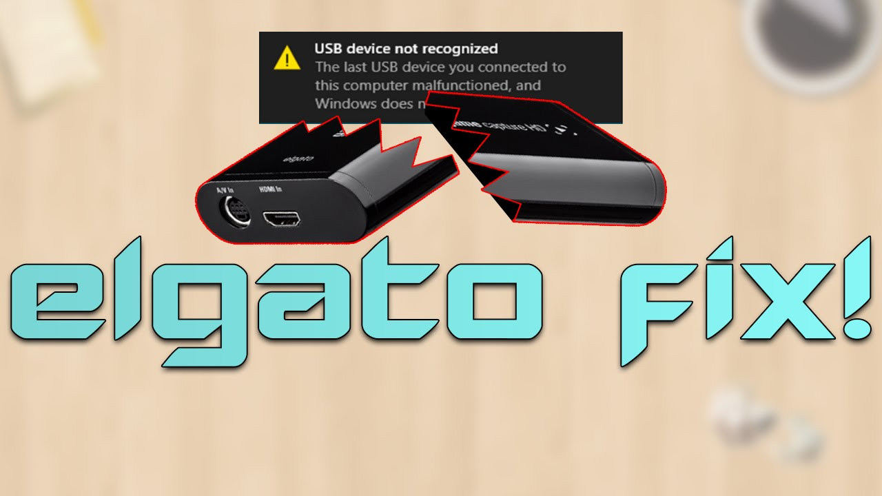 HOW TO FIX: Elgato Game Capture HD USB Not Recognised