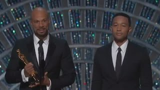 Common, John Legend evoke Civil Rights era at Oscars