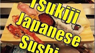 Tokyo Tsukiji Fish Market Japanese Tuna Sushi Restaurant Japan