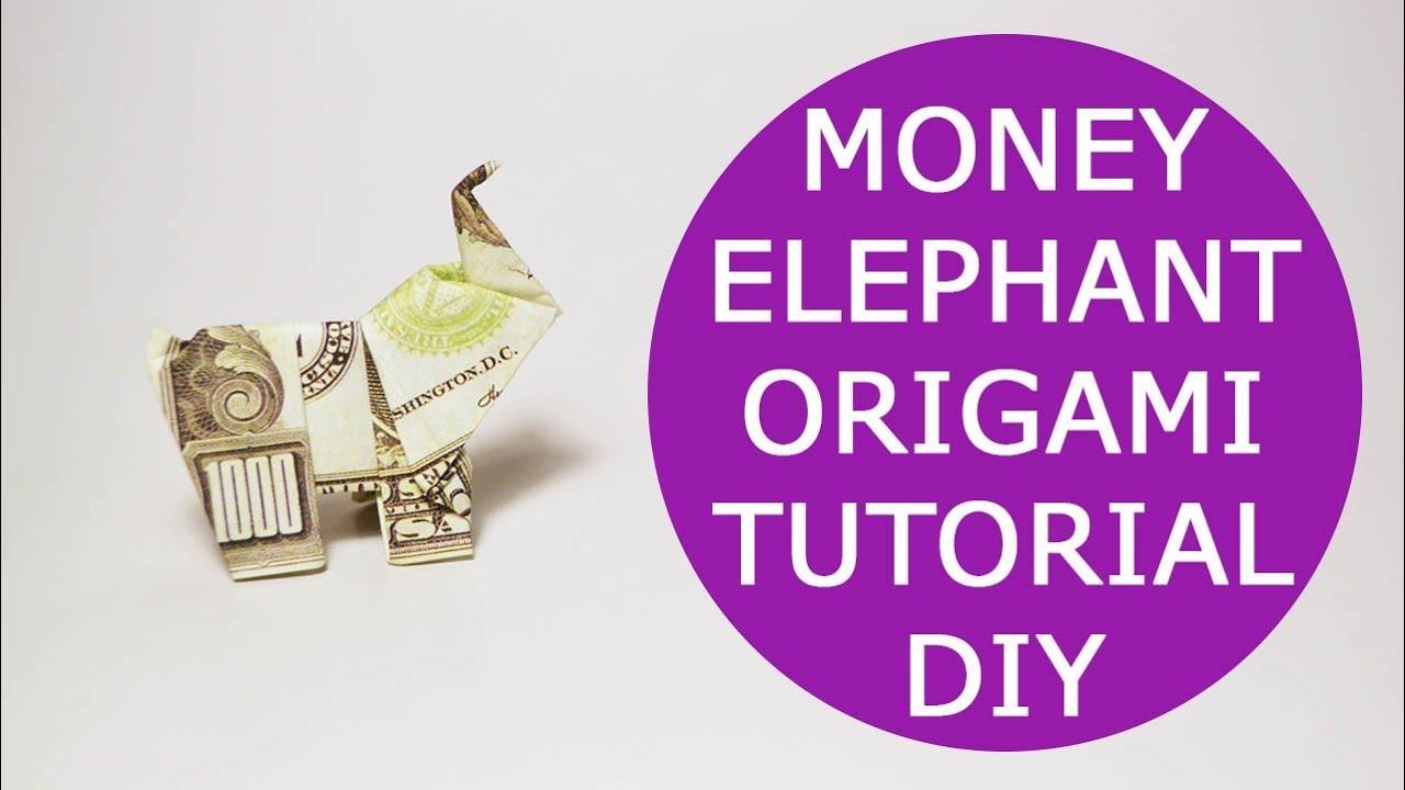 Elephant Money Origami - Dollar Bill Art | Figuras de papel ... | 720x1280
