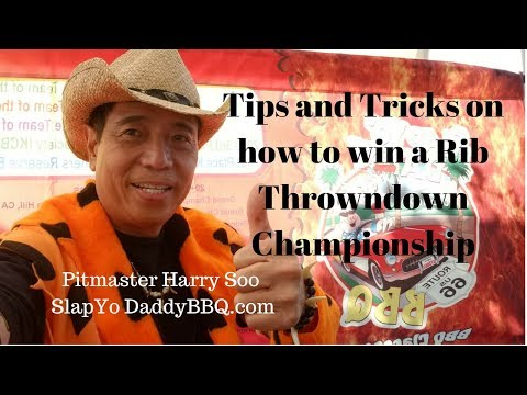 Tips and Tricks to win a Rib Throwdown Championship by Pitmaster Harry Soo