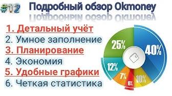 Обзор приложения okmoney. Лучшее приложение для учёта  финансов ok money