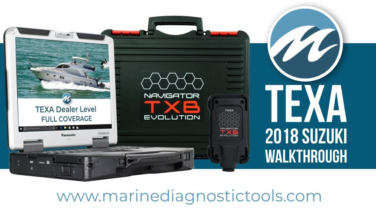TEXA Marine Walkthrough on 2018 Suzuki DF150