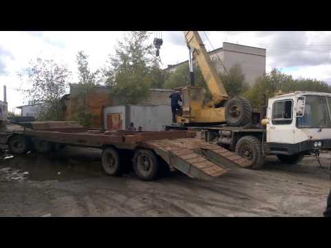 Перевозим бетонный гараж, погрузка с помощью автокрана