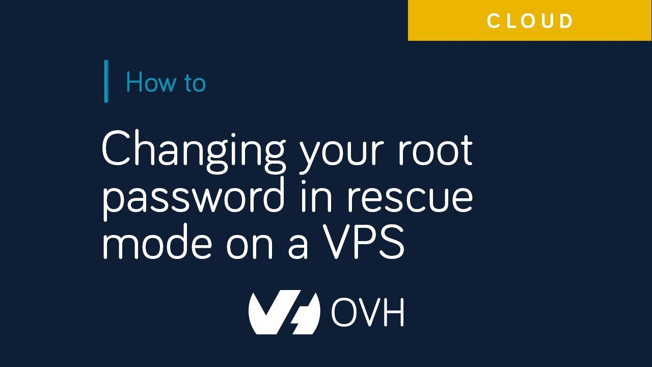Changing your root password on a VPS | OVH Guides