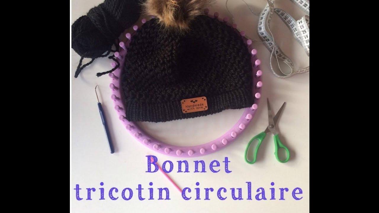 Hervorragend Bonnet au tricotin circulaire - YouTube UZ64