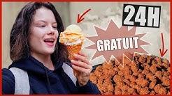 JE MANGE QUE DES TRUCS GRATUITS PENDANT 24H - Claire