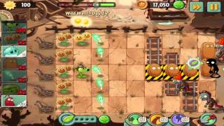 Plants vs Zombies 2: Wild West Day 24 Walkthrough