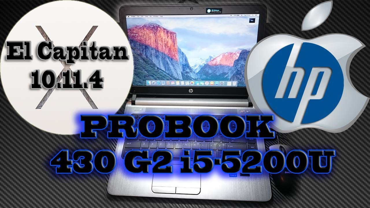 HP ProBook 430 G2 - Hackintosh El Capitan 10 11 4 [Broadwell i5-5200U]