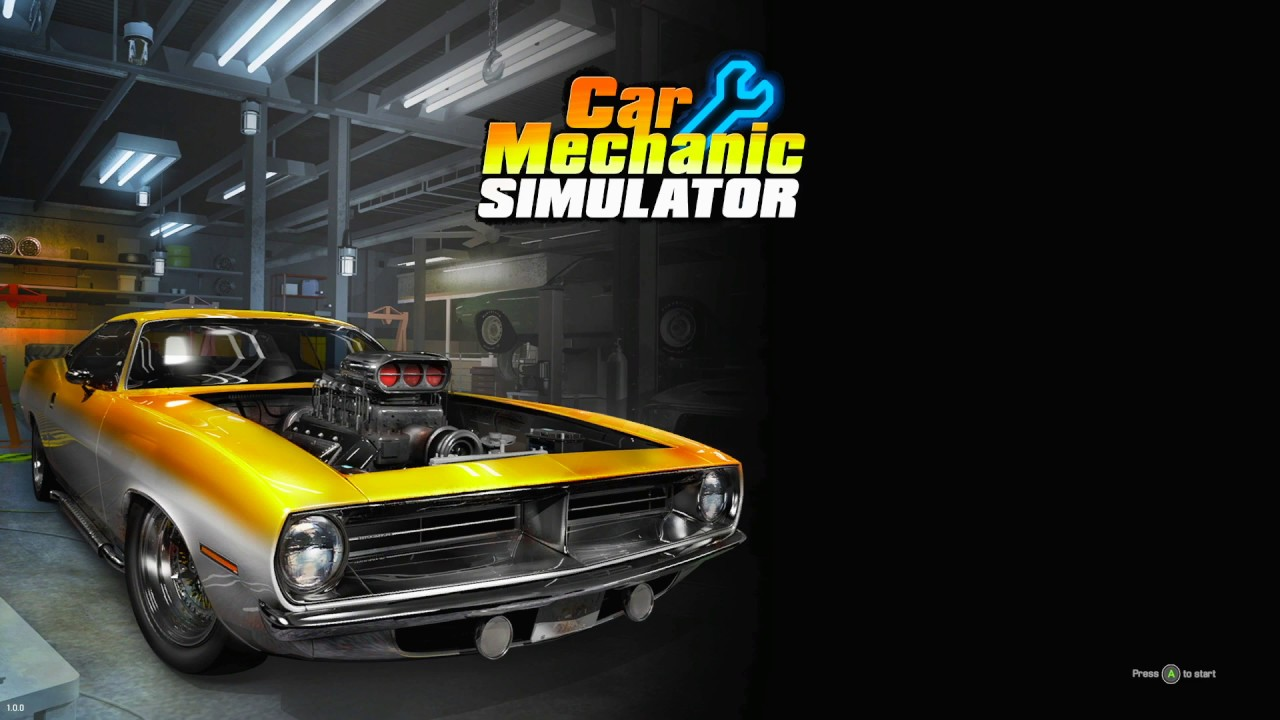Car Mechanic Simulator Title Screen (PS4, Xbox One)