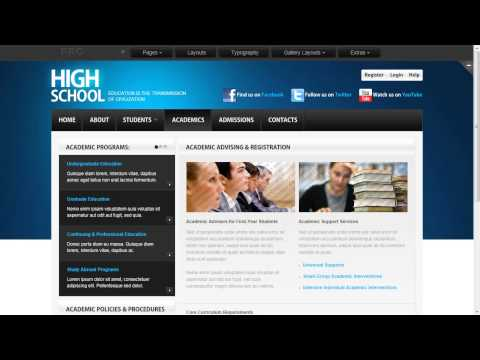 Legal Education Website Template