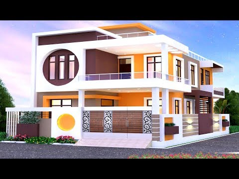 Modern Double Floor House Front Elevation Home Elevation