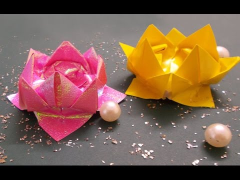 Papercraft DIY Crafts : Origami Lotus Tutorial | Origami Flowers | Paper Crafts