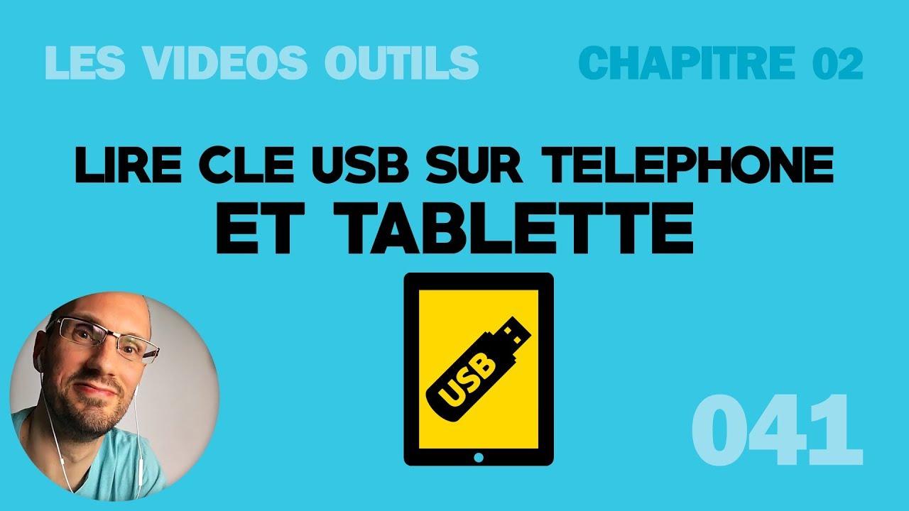 lire une cl usb sur tablette et t l phone android youtube. Black Bedroom Furniture Sets. Home Design Ideas