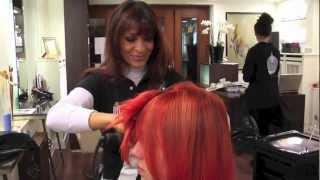 Paprika / Chilli red Rihanna Haarfarbe und Heidi Klum Schnitt und Styling - Extreme Makeover
