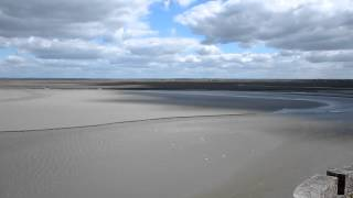 Le plage de Le mont Saint Michel