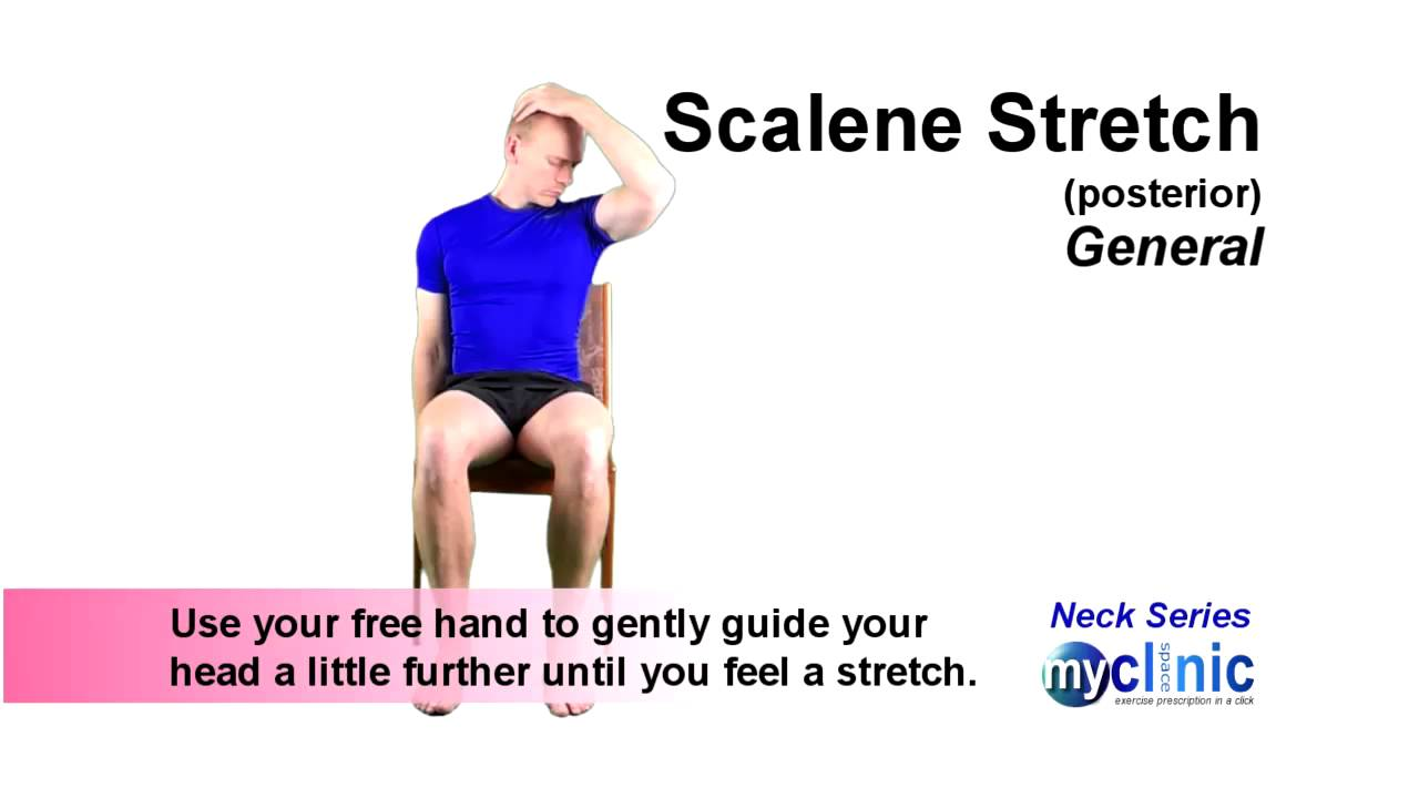 Neck Series - Posterior Scalene Stretch - YouTube