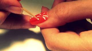 Роспись ногтей зубочисткой