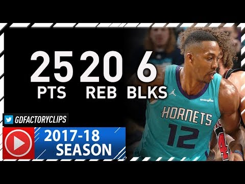 Dwight Howard Full Highlights vs Bulls (2017.12.08) - 25 Pts, 20 Reb, 6 Blocks