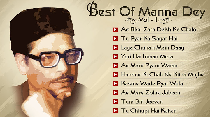 hits of manna dey  old bollywood songs  audio jukebox  vol 1  best of manna dey