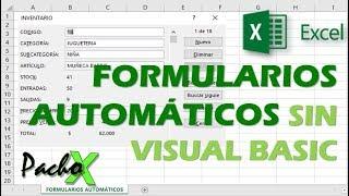 Formularios automáticos en Excel para ingreso de información
