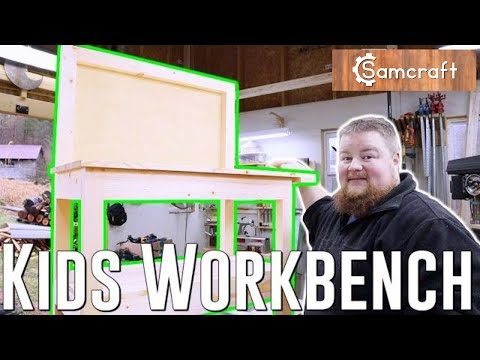 Kid Sized Workbench Built with Simple Tools | Woodworking Project How To