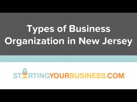 Types of Business Organizations in New Jersey - Starting a Business in New Jersey
