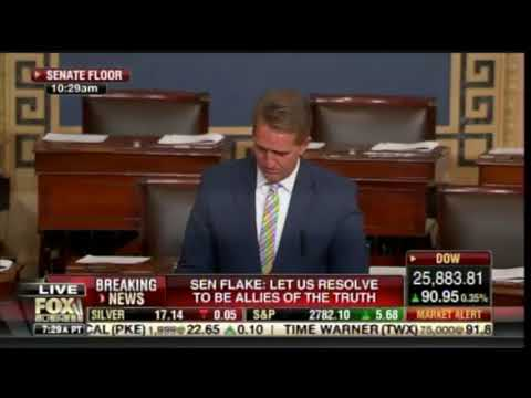 Fake Republican Flake gives a disgusting speech trashing the US President